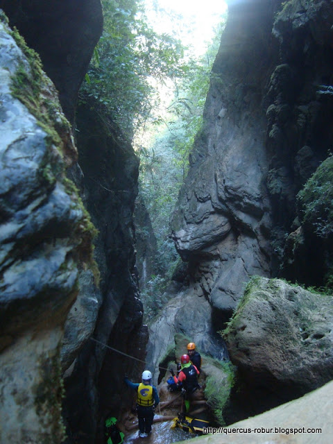 Tiro de 30 metros en barranco Chuveje
