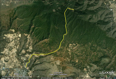 Ruta de excursión a Cerro Viejo por San Miguel Cuyutlán