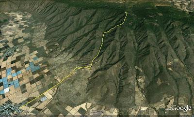 Ruta Zapotitán - antenas de Cerro Viejo, primer día