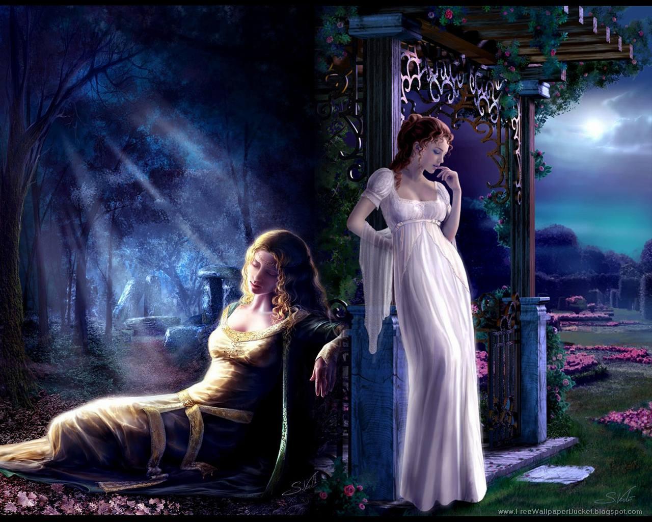 beautiful girl fantasy wallpaper - photo #19