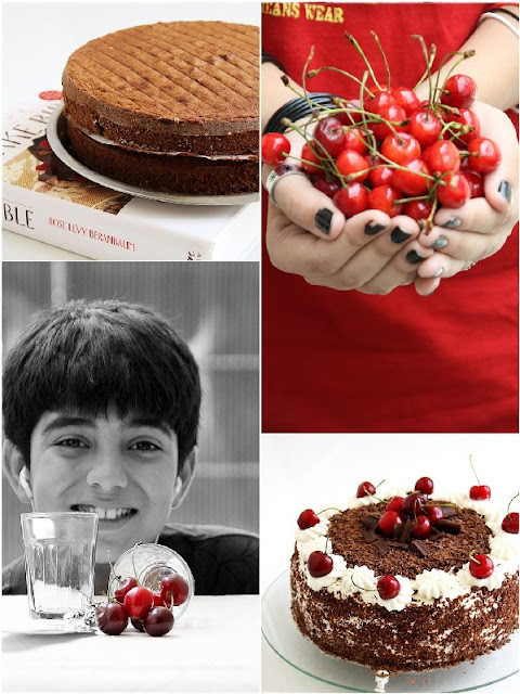 3 {Baking} SWISS BLACK FOREST CAKE ... whipping up low fat cream into submission!