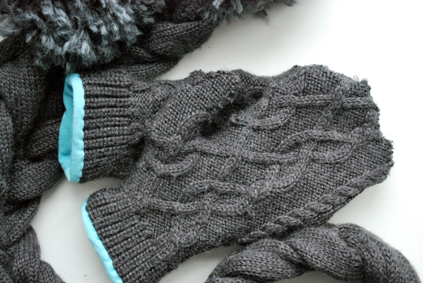 Larissa Another Day Matching Sweater Gloves For Braided Scarf