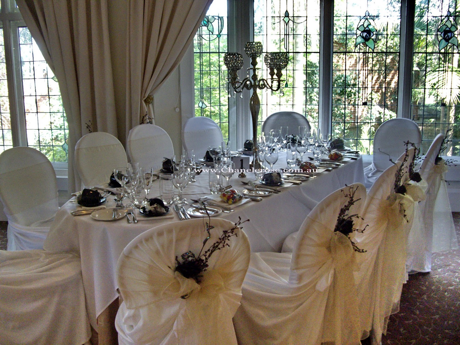 wedding chair covers sydney childcare glider rocker ottoman review chanele rose flowers blog stylist