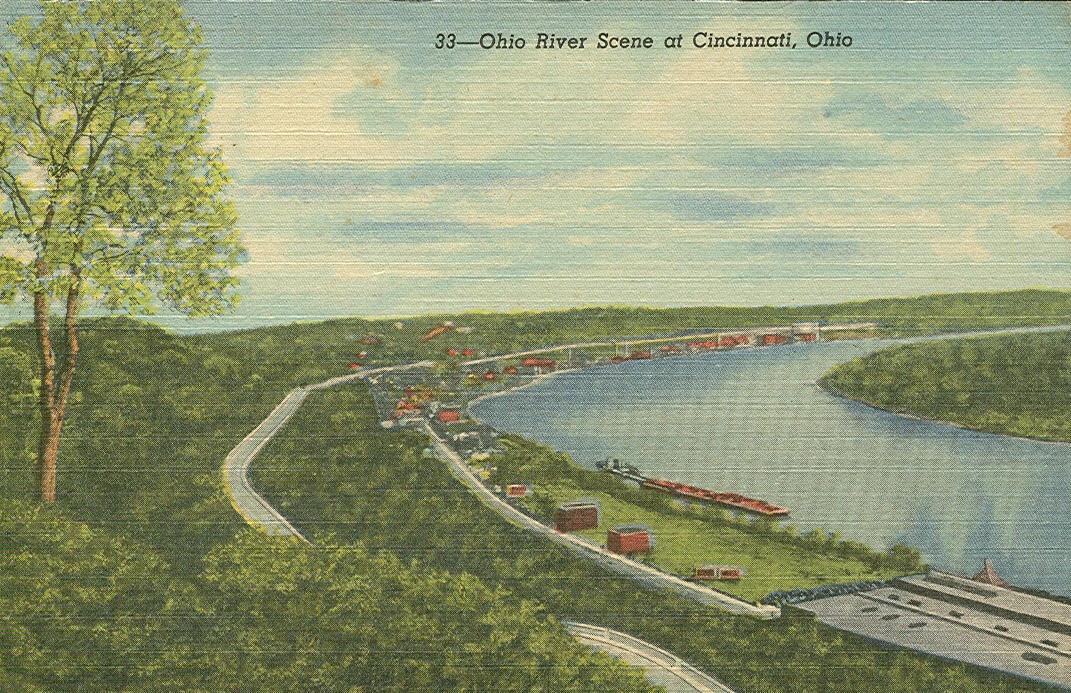 Vintage Travel Postcards Cincinnati Ohio