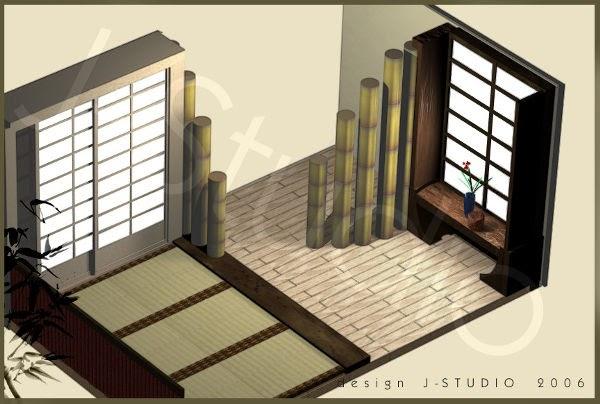 Il salotto giapponese stanza piano interrato in stile for Arredo giapponese