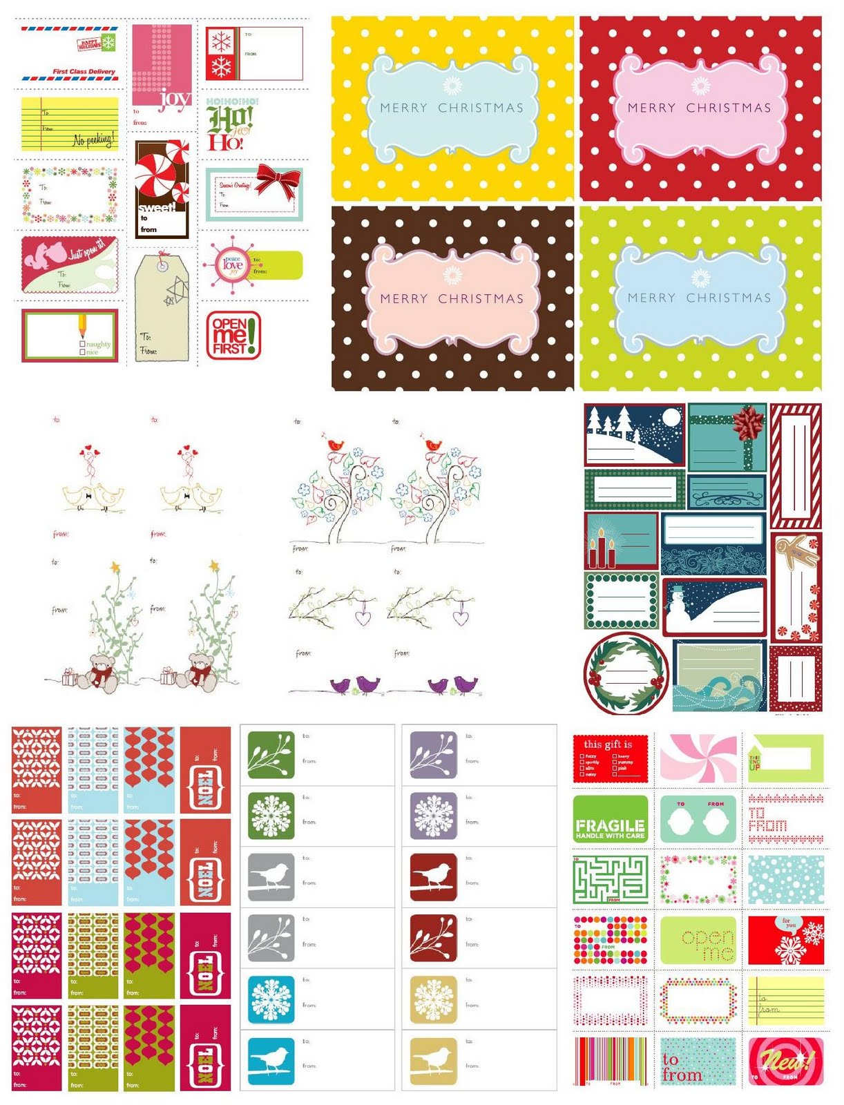 Free Printables Labels And Tags