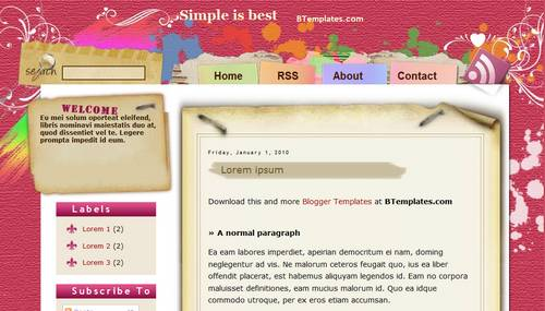 Blogger Toolbox: Fresh, Free and Stunning Blogger Templates