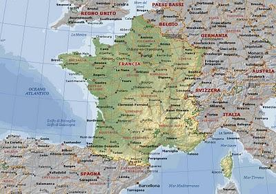 Cartina Francia Tolosa.Secondaaponso La Francia