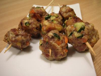 Polpettine di carne con carote e zucchine
