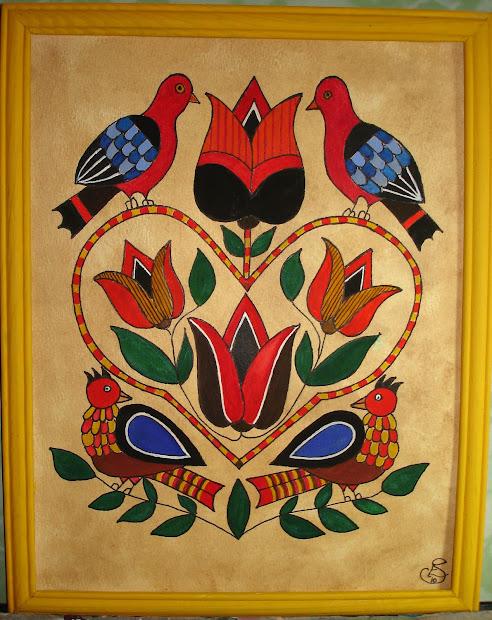 Wild Swan Fraktur Art