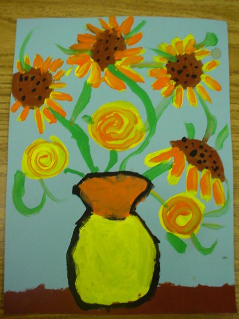 Mrs Knight S Smartest Artists Van Gogh S Sunflowers 1st Grade Paintings