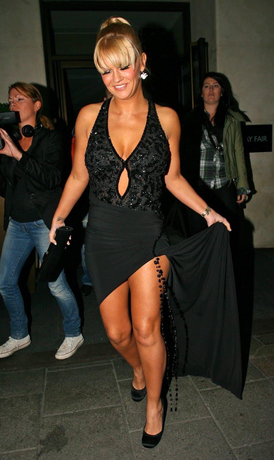 Kerry Katona In A Little Black Dress