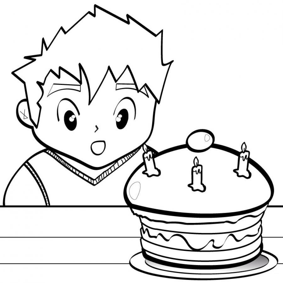 Image de gateau d 39 anniversaire a colorier - Dessin pour anniversaire ...