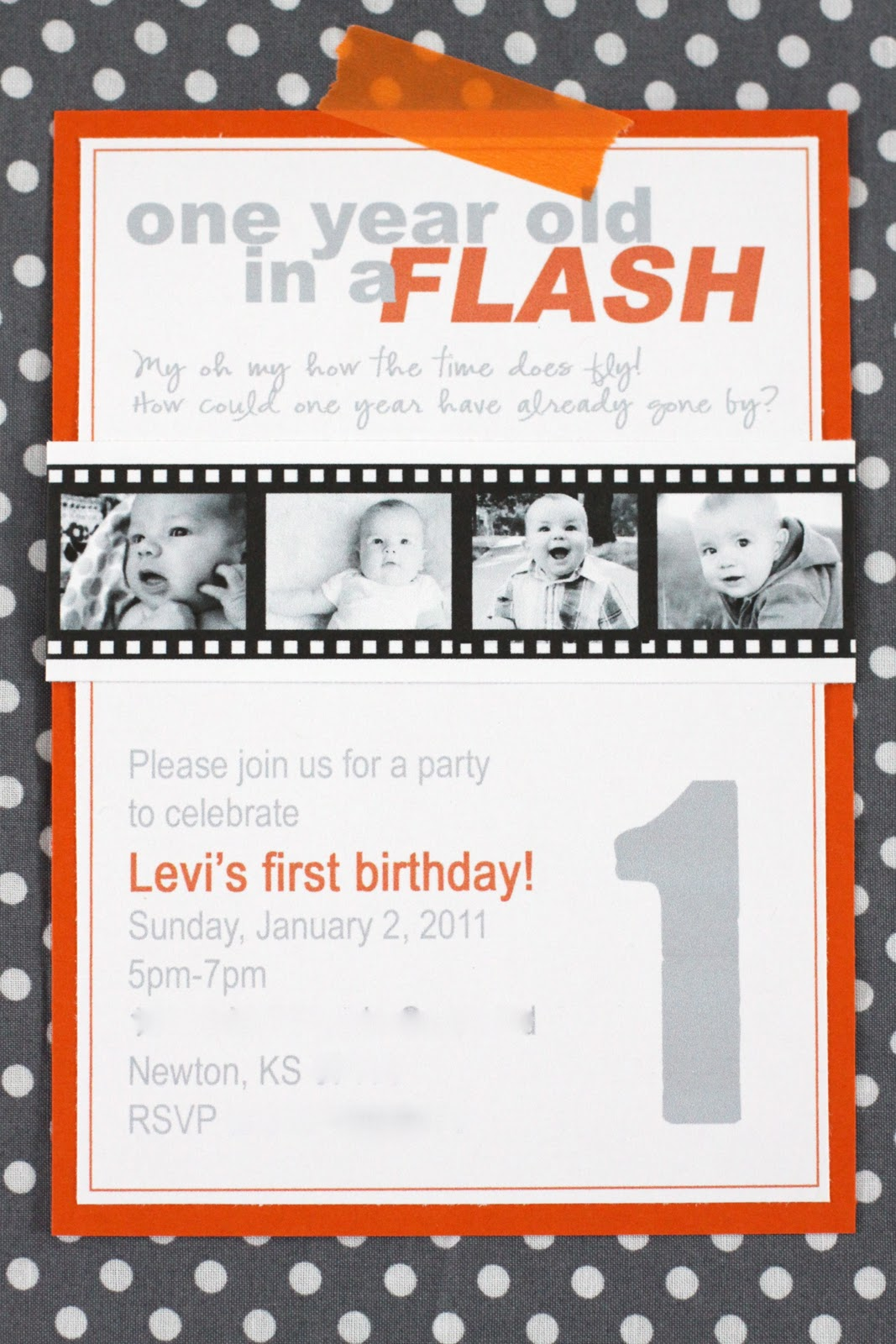 one year old in a flash party details the macs