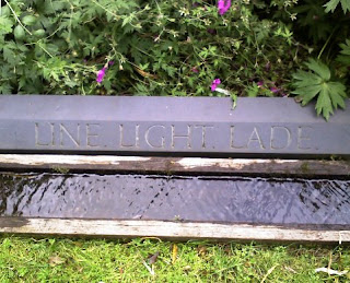 Water feature at Little Sparta, by Ian Hamilton Finlay