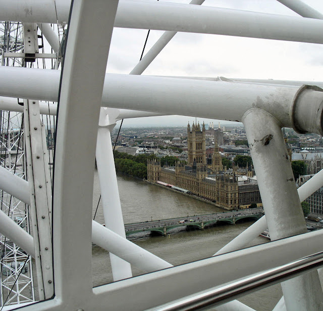 westminster palace seen from the London Eye