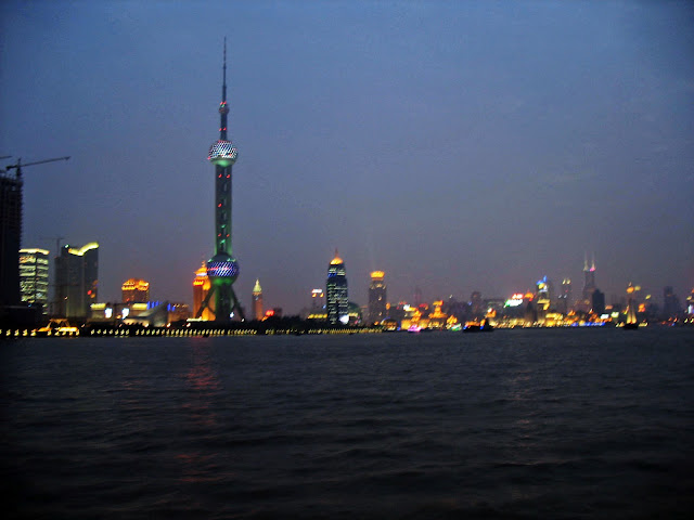 shanghai skyline at night