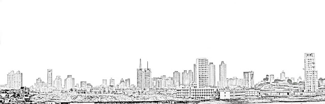 worli skyline illustration
