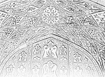 sketch of ceiling design