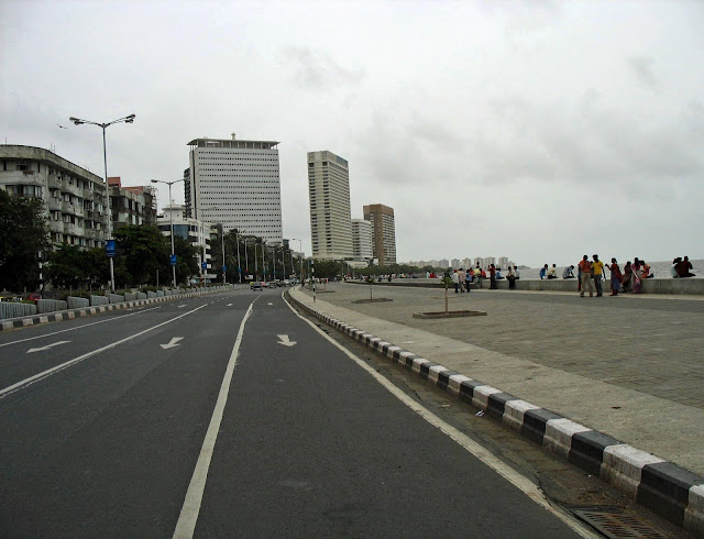 Close-up of Marine Drive Mumbai