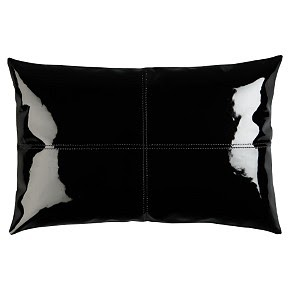 pretty much the best thing ever patent leather pillow. Black Bedroom Furniture Sets. Home Design Ideas