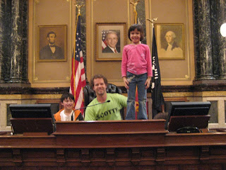 at the president's desk, iowa senate