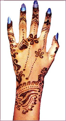 Mehndi designs on hand palms backside