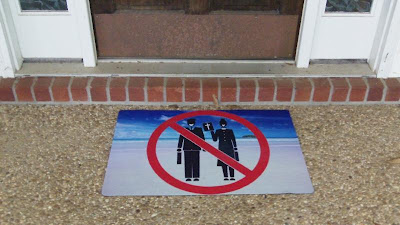 no proselytizing welcome mat