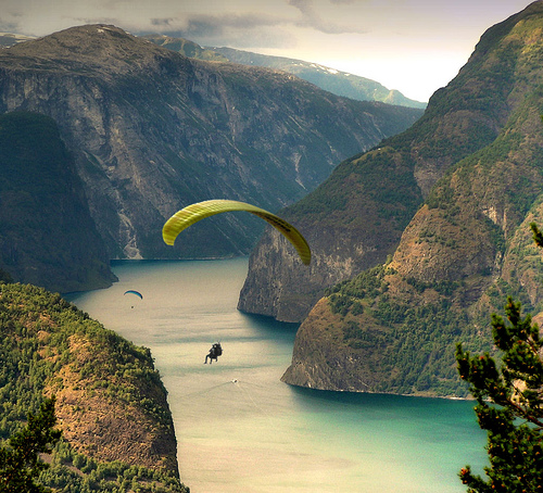 Rock Climbing Extrem: Paragliding Wallpapers