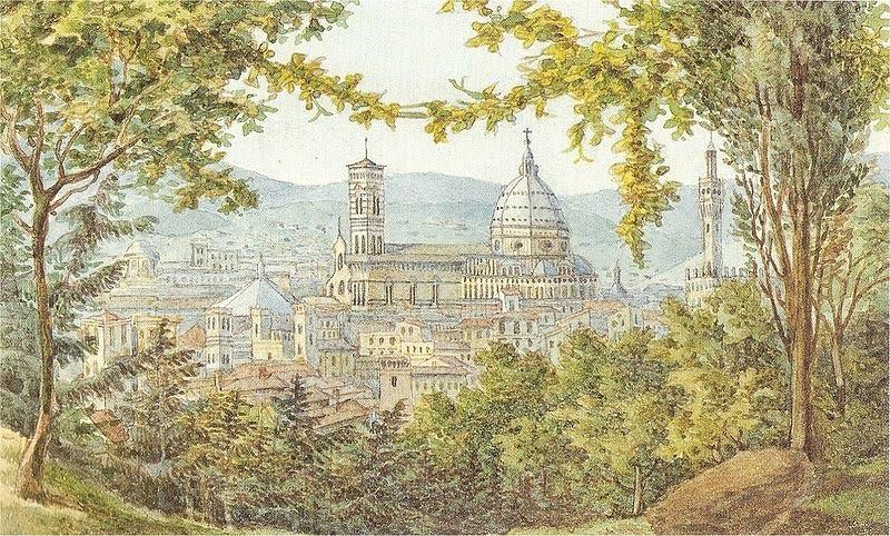Florencia, acuarela de Mendelssohn