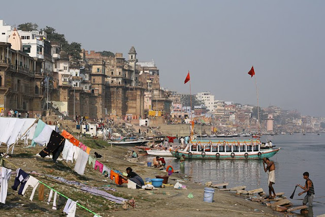 on the ganges river banks