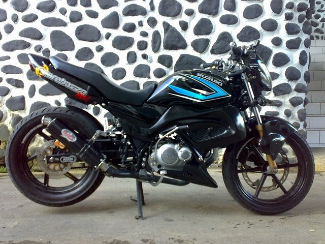 SUZUKI THUNDER 125 MODIF SPORT FIGHTER MINIMALIS