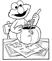 24 free halloween coloring pages for kids for Sesame street halloween coloring pages