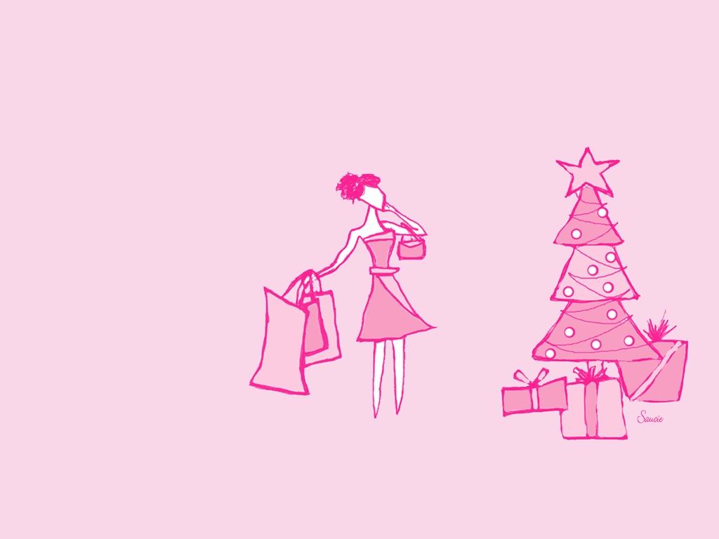 pink christmas wallpapers 4544 1024