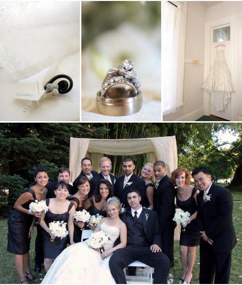 Black White Yellow Silver California Wedding Michelle Walker Photography 2b