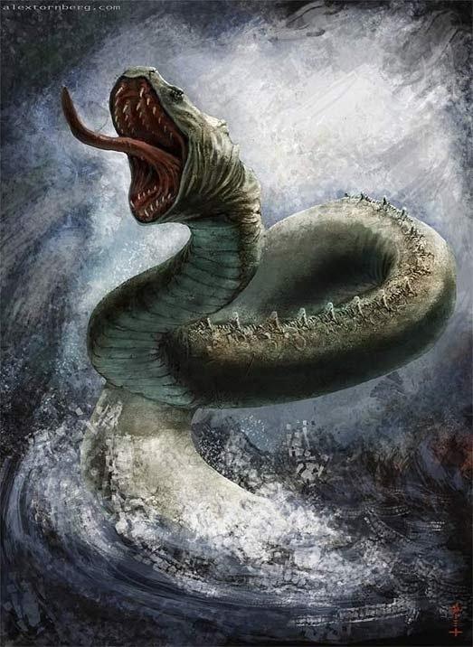 seres fant sticos y mitol gicos las serpientes marinas monstruos del mar. Black Bedroom Furniture Sets. Home Design Ideas