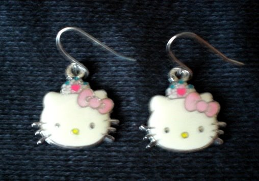 hello kitty ear-rings accessories