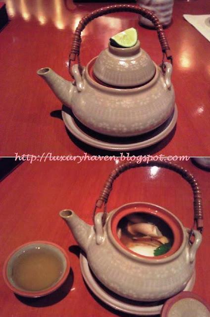 inter-con hotel ko japanese restaurant dobin-mushi