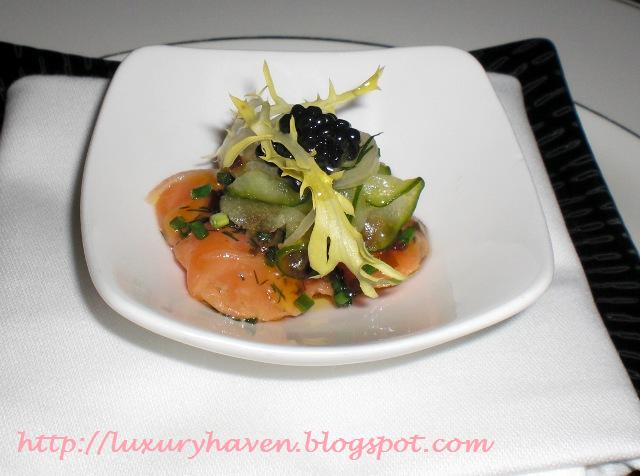 goodwood park gordon grill salmon sashimi caviar
