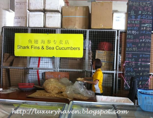 cny shopping for sharks fins sea cucumber