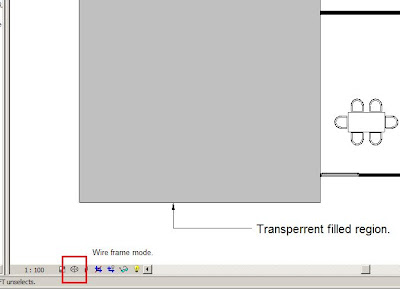 Revit Fix: Transparent filled region and wire frame view mode