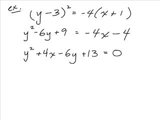 SVRSS Grade 12 Pre-Calculus Math: Conics Again...