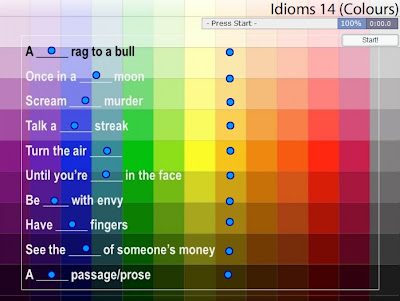 Chiew's CLIL EFL ESL ELL TEFL Free Online Games Activities: Colour Idioms