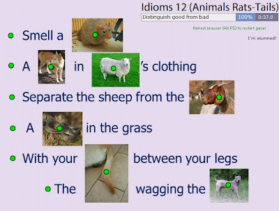 Chiew's CLIL EFL ESL ELL TEFL Free Online Games Activities: Animal Idioms