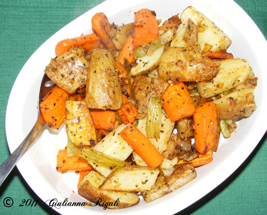 Italian Roasted Vegetables Recipe.