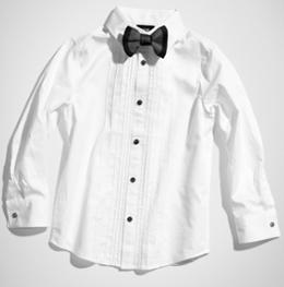 camisa blanca niño niña