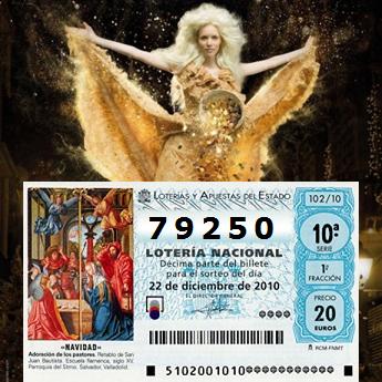 números premiados en la Lotería de Navidad 2010