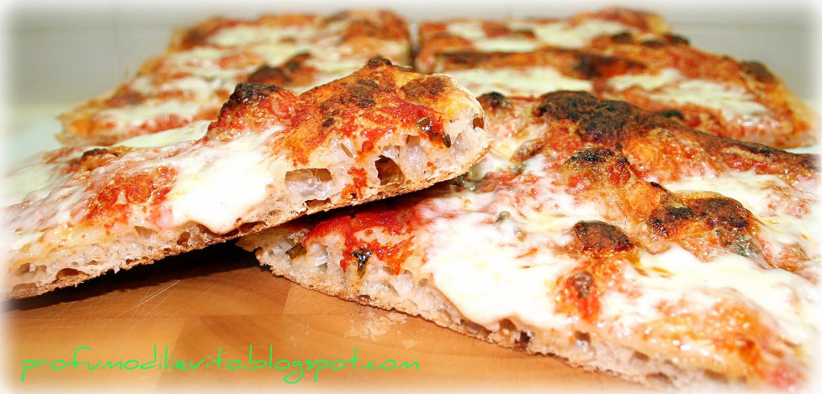 Ricetta Impasto Pizza Toscana.Profumo Di Lievito La Pizza In Teglia Croccante