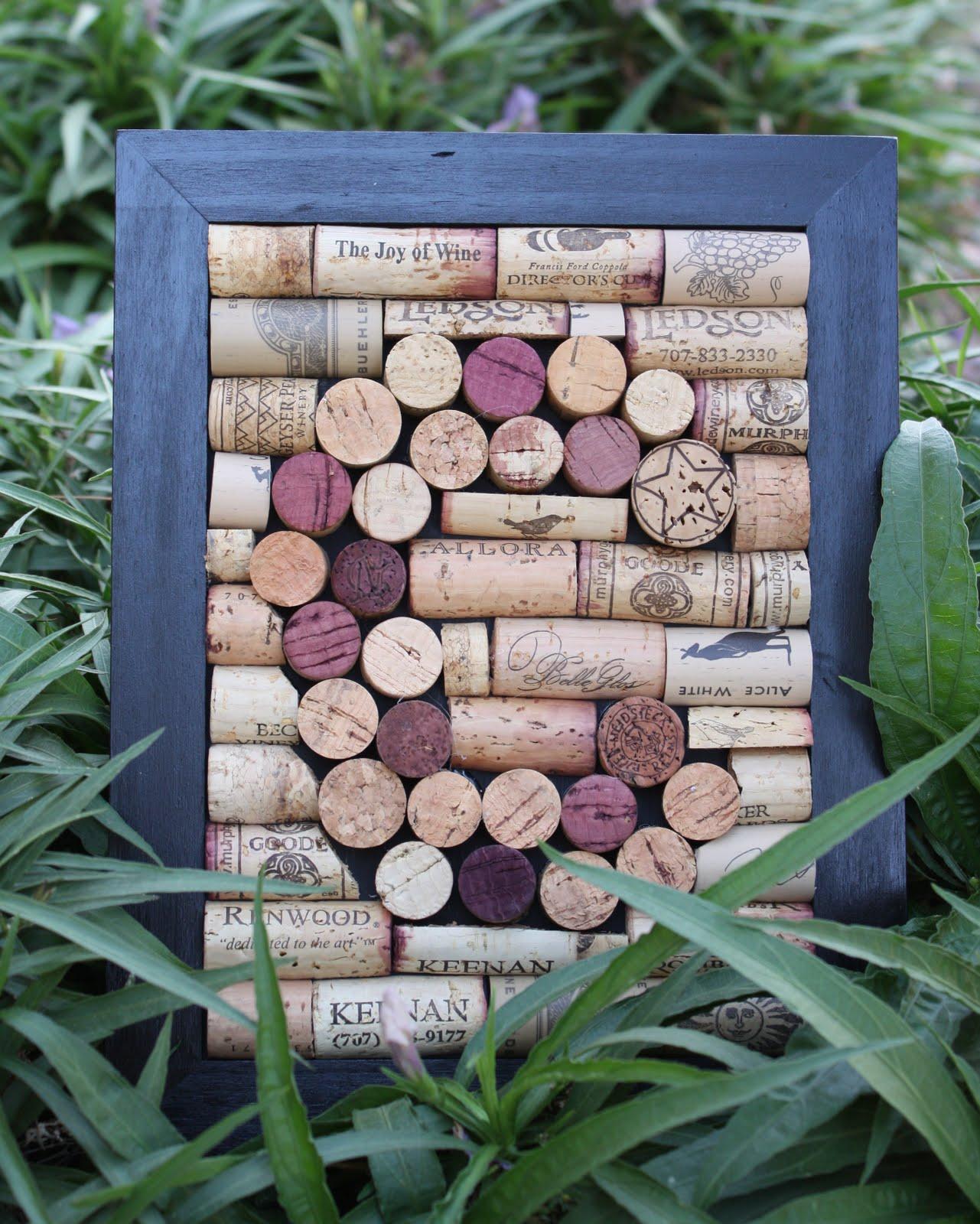 Wine Cork Art: Monogrammed Wine Cork Wall Hanging