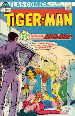 Atlas Comics, Tiger-Man #1, Tiger-Man cover